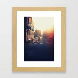 Work in the Morning... Framed Art Print