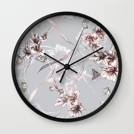 Crystalized Florals Wall Clock