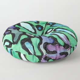 reticulated leaves Floor Pillow
