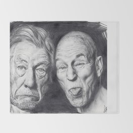Patrick Stewart & Ian McKellen Throw Blanket