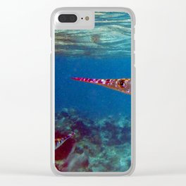 Watercolor Fish Flat Needlefish, The Needler Clear iPhone Case
