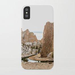 Smith Rock Oregon Desert Sunset - Nature Photography iPhone Case