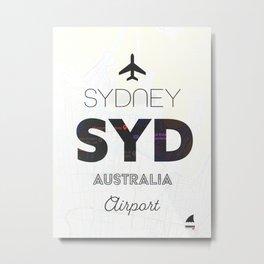 Sydney airport minimal Metal Print