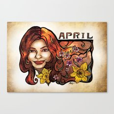 Brenda of April Canvas Print