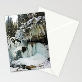 The Grotto Ice cave in Maligne Canyon Stationery Cards