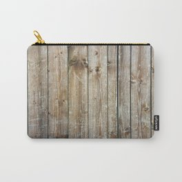 Rustic Wooden Plank Texture Carry-All Pouch