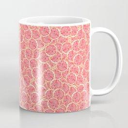 Grapefruit Slice Pattern Coffee Mug
