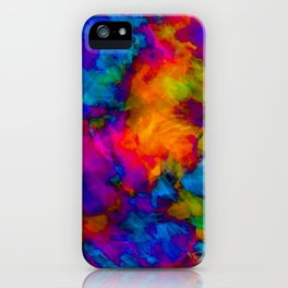 Vibrant Abstract Color Explosion  iPhone Case