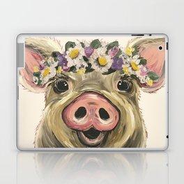 Farm Animal Art, Pig Art Laptop & iPad Skin