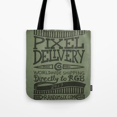 Handwriting: Pixel Delivery Tote Bag