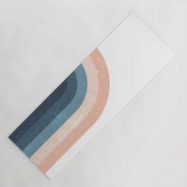 70s Rainbow Yoga Mat
