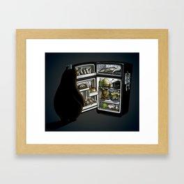 An Omnivore's Midnight Dilemma  Framed Art Print