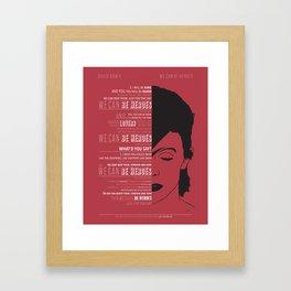 Heroes - Bowie Framed Art Print