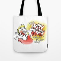 birthday Tote Bags featuring birthday by Abinski