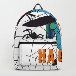 Witch Happy Halloween white Backpack