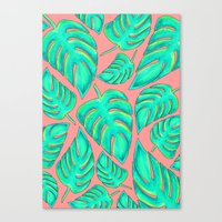 palms Canvas Prints featuring Palms by Anika Kirk