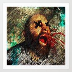 Sage scream Art Print