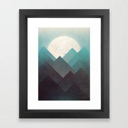 Ice Lands Framed Art Print