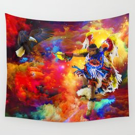 Dance with eagle Wall Tapestry