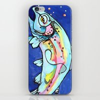 trout iPhone & iPod Skins featuring Trout Pout by waggytailspetportraits