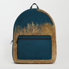 Denim Gold Paint Backpack