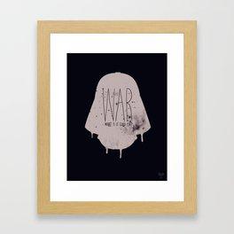 WAR Framed Art Print