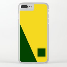 Green-Yellow Clear iPhone Case