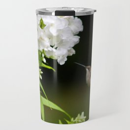 Hummingbird and Flowers Travel Mug