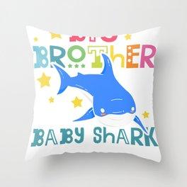 Big Brother of Baby Shark Throw Pillow