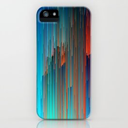 All About Us - Abstract Glitch Pixel Art iPhone Case
