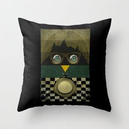Owl of  Mountain Throw Pillow