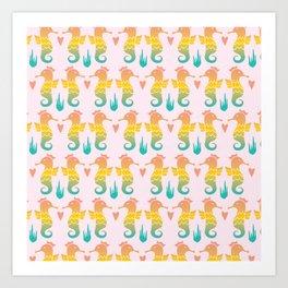 Royal Seahorse Art Print