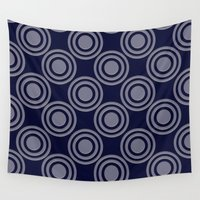 circles Wall Tapestries featuring Circles by Dorothy Pinder