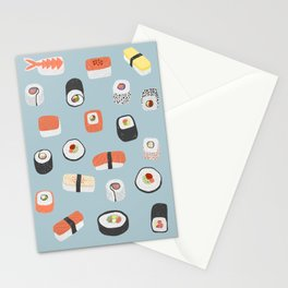 Sushi Roll Maki Nigiri Japanese Food Art Stationery Cards