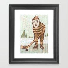 Hockey Yeti Framed Art Print