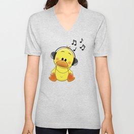 Ducky Music Unisex V-Neck