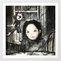 child Art Prints featuring child by woman