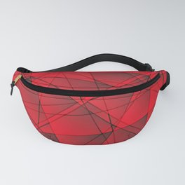 Geometric web of red lines with cross triangular highlights. Fanny Pack