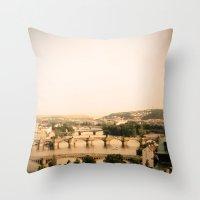 prague Throw Pillows featuring Prague by rebecca lilianne wichmann