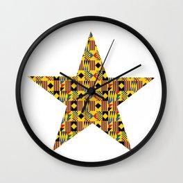 Ghana - Kente Star Wall Clock