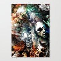 kurt cobain Canvas Prints featuring Kurt by Tordu Design JS Lajeunesse