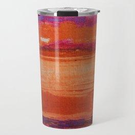 V41 Traditional Boho Marrakech Carpet Design. Travel Mug