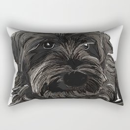 Schnauzer dog Rectangular Pillow