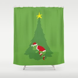 WHEN THE GRINCH COMES Shower Curtain