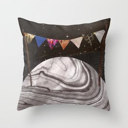 Moon Party Throw Pillow