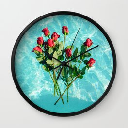 summer romance #society6 #decor #buyart Wall Clock