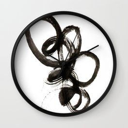 smear of black paint // modern abstract art // minimalism // black and white // stylish, loft style Wall Clock