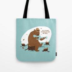 Brown Bear Blues Tote Bag