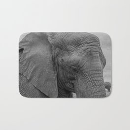 Elephant Close-Up Bath Mat
