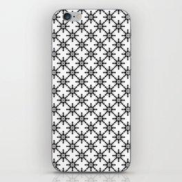 Black and White Custom Pattern 2 iPhone Skin